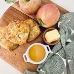 apple cheddar scallion biscuits