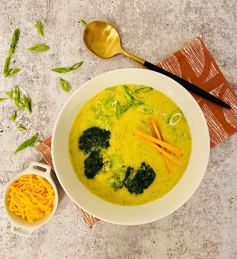 Creamy Broccoli Cheddar Potato Soup