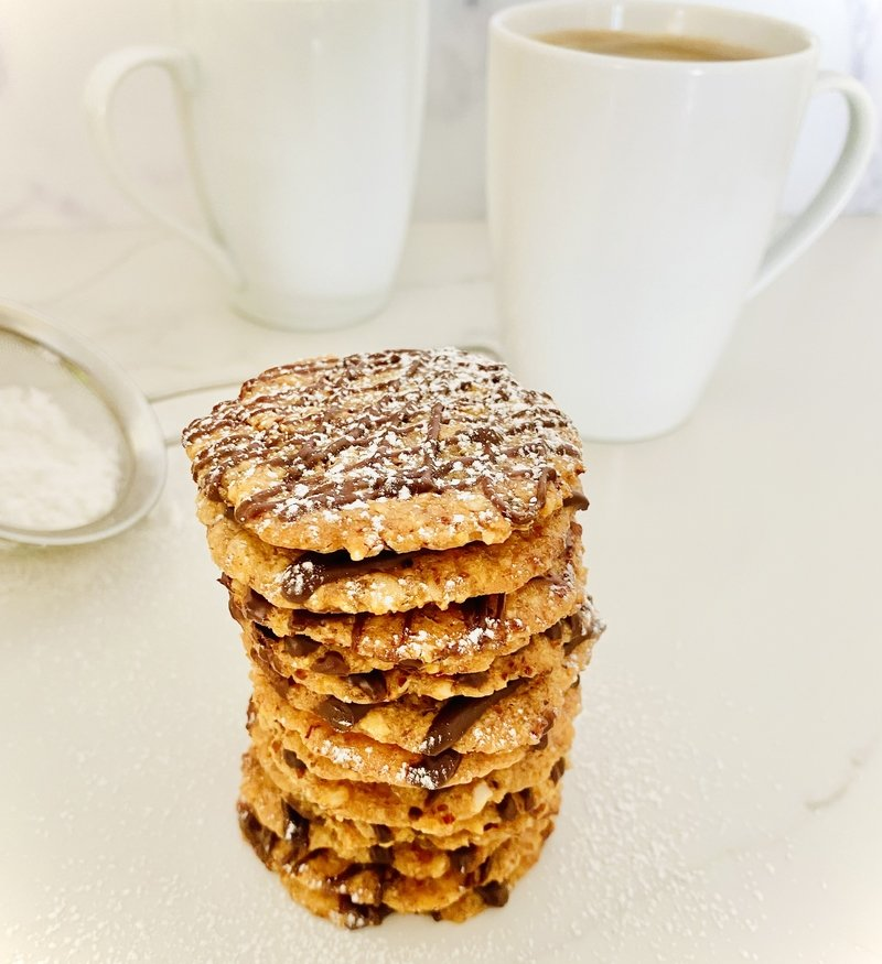 almond lace cookies gluten free and vegan