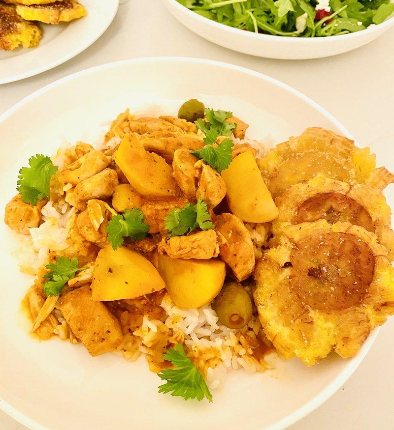pollo guisado one pot puerto rican stewed chicken
