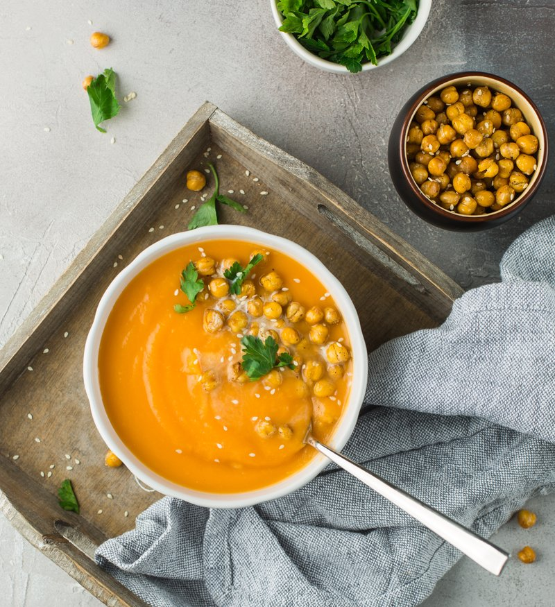 golden red lentil and chickpea soup turmeric healthy
