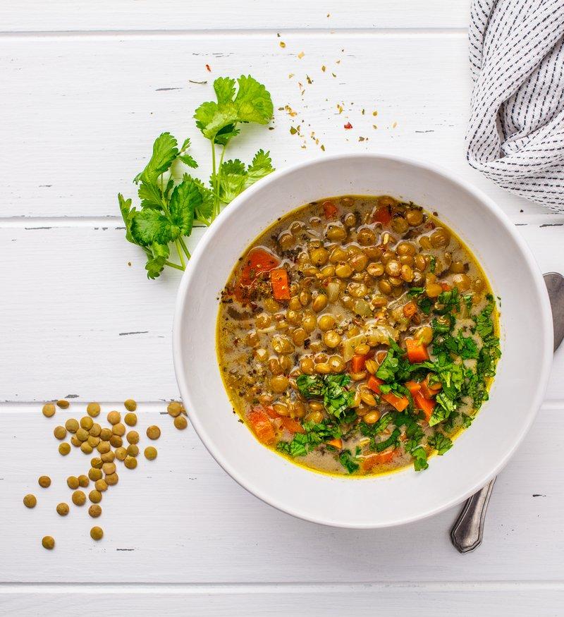 hearty lentil soup healthy vegetarian vegan