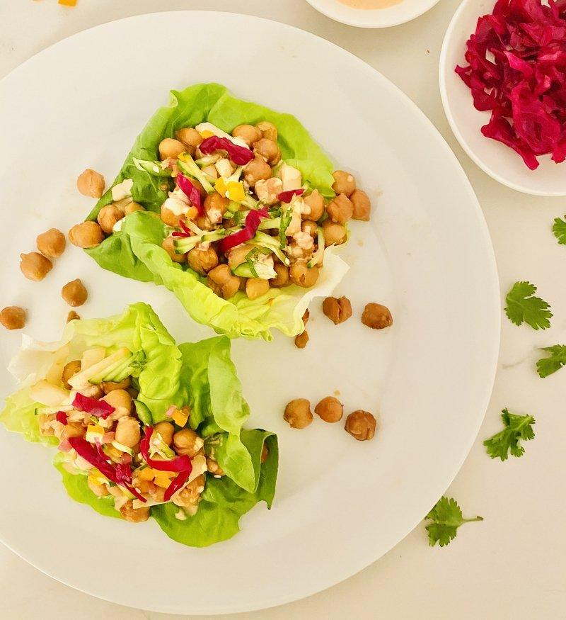 easy that chickpea lettuce wraps