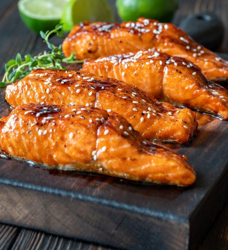 sheet pan miso butter salmon