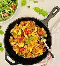 20-Minute Sausage and Summer Veggie Skillet