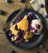 Blueberry + White Chocolate Chip Spoon Cake