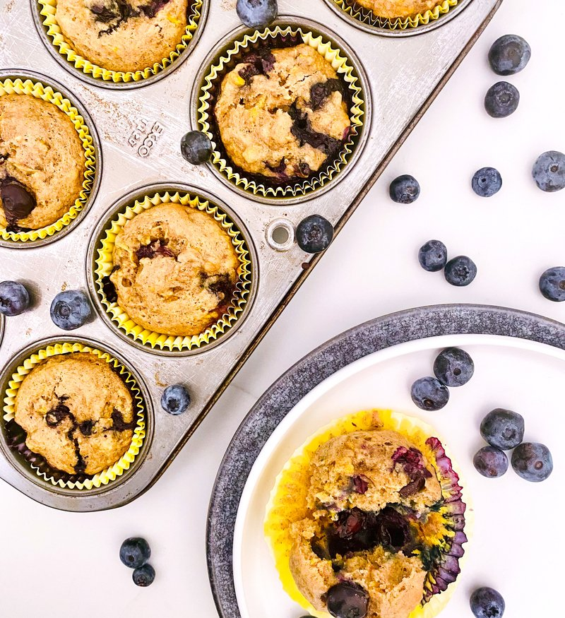 Blueberry + Summer Squash Muffins
