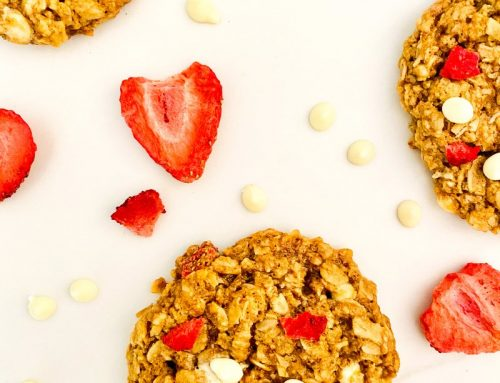 Tropical Strawberry, Pineapple + White Chocolate Chip Oat Cookies