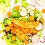 Buffalo Chicken Tender Salad with Creamy Ranch Dressing