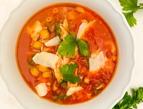 Italian Chicken + Veggie Soup