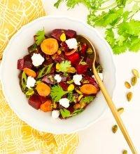 beet salad with cilantro balsamic vinaigrette