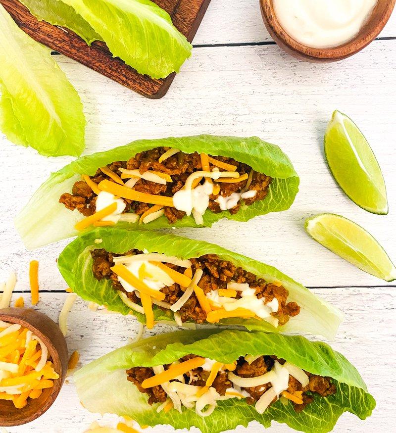 one pan ground pork taco lettuce wraps